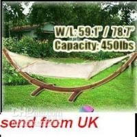 Wholesale Arched Double Wooden Garden Hammock Stand Hammock