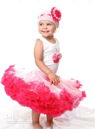 Wholesale TUTU girl s skirt pink dark pink with a Bowknot pettiskirt