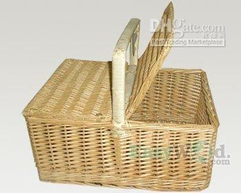 Wholesale wicker picnic basket with handle