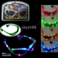 Wholesale Christmas light up glasses led sunglasses gifts Party glasses promotion gifts fashion sunglasses