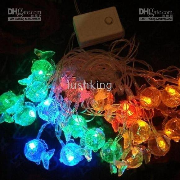 Christmas Light Fish 20led String Lights Xmas Lights String Fairy Lights 16ft Wedding Party ...