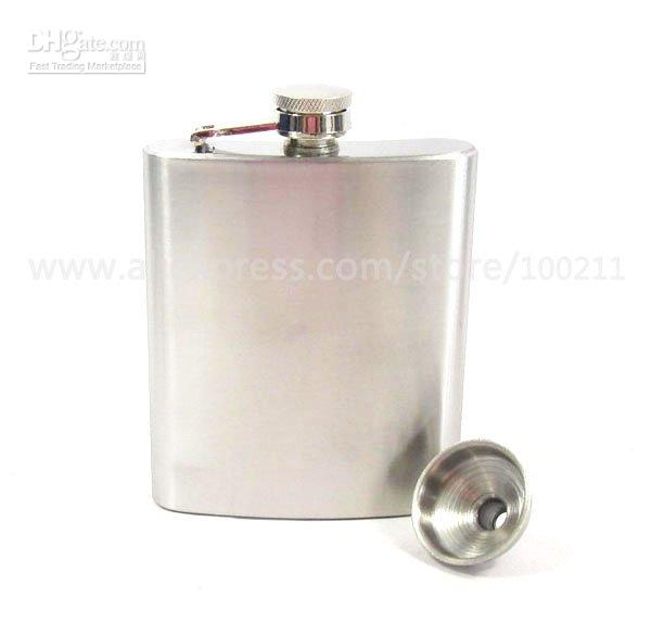 Wholesale 7OZ stainless steel hip flask Matt finishing WITH FREE FUNNEL
