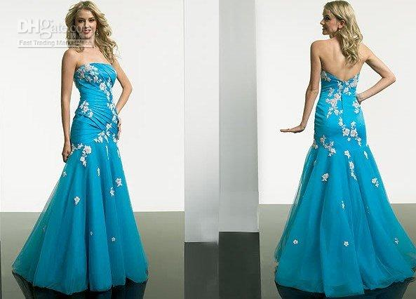 Wholesale Blue The latest wedding dress bridesmaid dress prom dress size custom