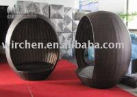 Wholesale rattan leisure chaise lounge egg chair