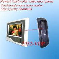 Wholesale 7inch handsfre color video door phone video intercom systems video door phones video door bells