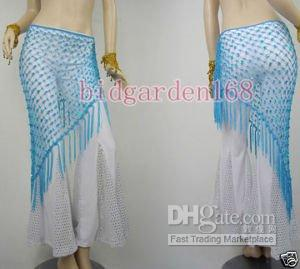 Wholesale brand new Belly Dance Costume Hip Scarf Tribal indian dance skirt not including the pant