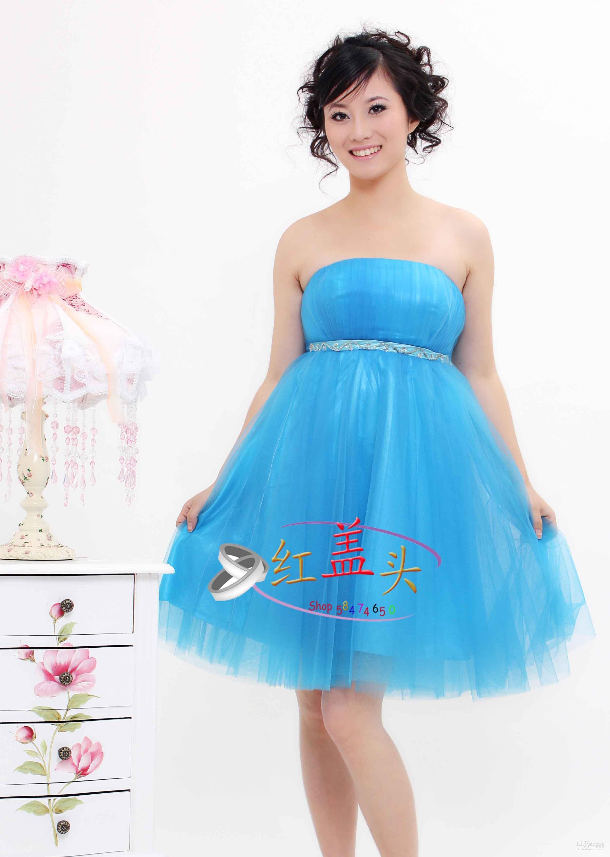 Pretty Blue Wedding Dress Sexy Wedding Dress Vintage Wedding Dress ...