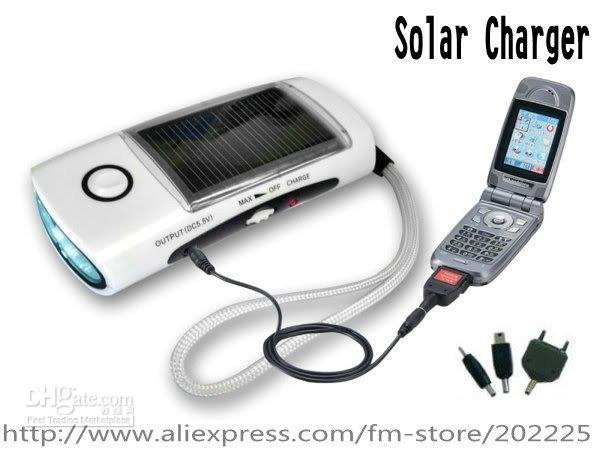 Solar Chargers solar flashlight radio phone charger - Solar LED Torch Flashlight FM Radio Cell Phone Mp3 Mp4 Charger