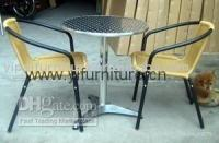 Wholesale aluminum rattan chair coffee table and chair