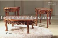 Wholesale Antique hand carving coffee table with marble top antique furniture