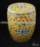 Wholesale Famille rose Ceramic Garden Stool WRYAZ08