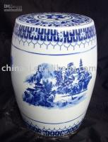 Wholesale Blue and White Ceramic Garden Stool WRYAY210