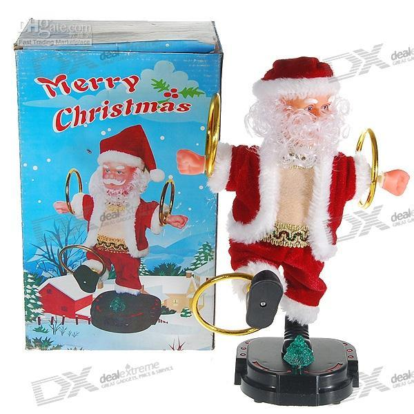 led hula hoop - 5PCS Christmas Music LED Light Hula Hoop Santa Claus AA BATTERY CUTE GIFT PRENSENT