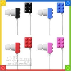 Wholesale Building Block in ear Earphone Earbuds headphone for mp3 mp4