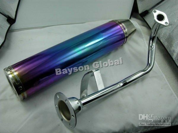 scooter performance exhaust - Performance Muffle exhaust for GY6 CC scooter parts