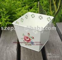 Wholesale Supply Home amp Garden Decoration Items Metal Flower Pot Flower Planter CF0041