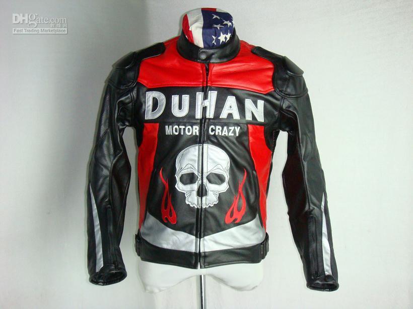 Wholesale DUHAN motorcycle jacket D Skull PU Black high quality