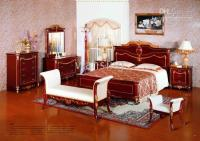 Wholesale wood bedroom set wooden european American style antique classic royal furniture birch solid