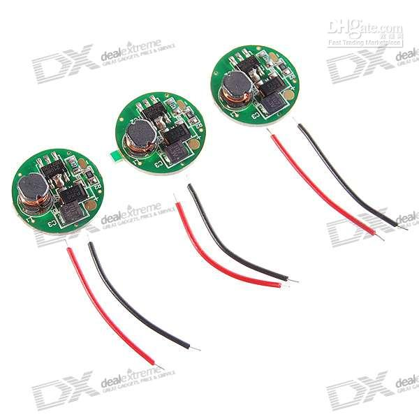 Cheap AA and 14500 Circuit Board for 3.7V LED Emitters 3-Pack (1.5V~4.2V Input)432