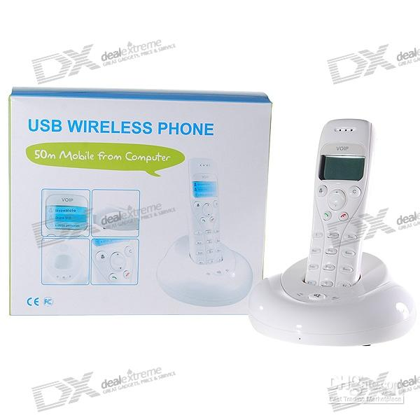 Wholesale 1 LCD GHz Wireless USB VoIP Skype Phone Meter Wireless Range sample