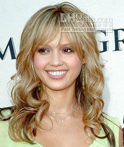 Wholesale jessica simpson style Chinese or Indian remy hair full lace wig inches Full Hand Made