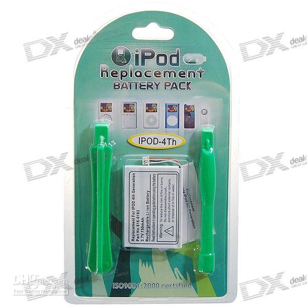 Wholesale 750mAh V Replacement Lithium Battery with Tools for th Generation iPod as picture