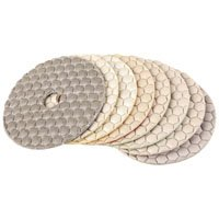 Wholesale 4 Dry Diamond Flexible Polishing Pads for Marble Granite Concrete Honeycomb Type