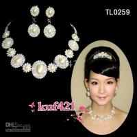 Wholesale New party Jewelry TL0259 Rhinestone Pearl Necklaces Earring brilliant Bridal Wedding Jewelry