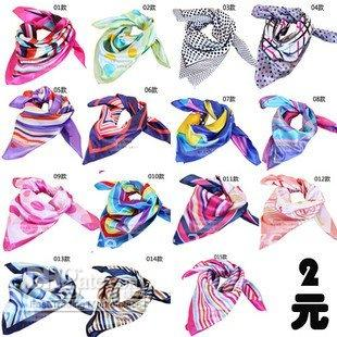 Wholesale Variety Magic scarves polyester Satin women s office lady scarves bank scarf