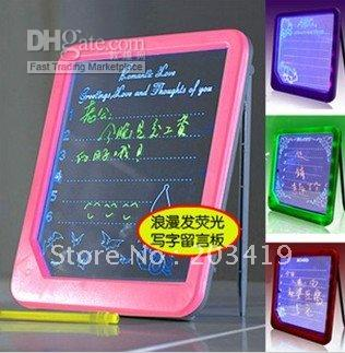 Wholesale retail New Arrival Romantic Fluorescence Message Board LED Writing Menu Light Up Glowing Message Board Sign