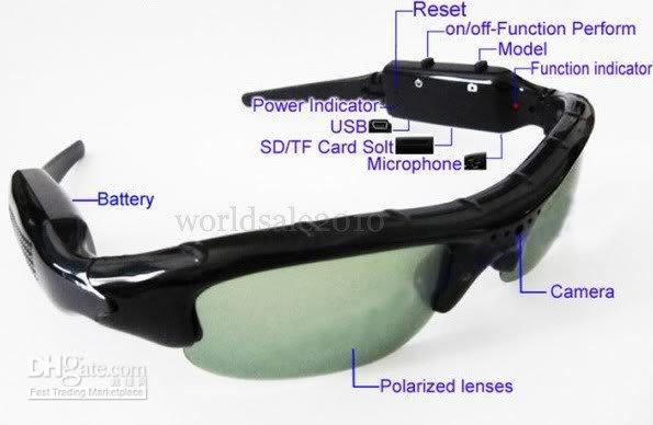 Wholesale NEW sun glasses fps Sunglasses HD Camera Video DVR Camcorder camera