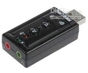 Wholesale Virtual Channel USB D External Audio Sound Card Adapter