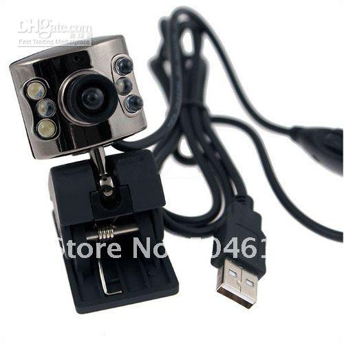 Wholesale piece New USB K LED WEB CAMERA WEBCAM MIC for PC SKYPE MSN