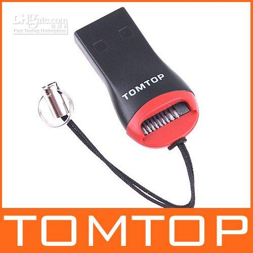 Wholesale USB Micro SD T Flash TF Card Reader with tomtop logo C1084