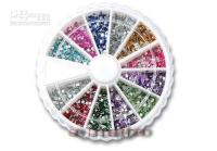 Wholesale 2mm Colors Acrylic Round Rhinestone Wheel Retail Package For Fshion Salon Beauty Nail Decoration Desgin Product
