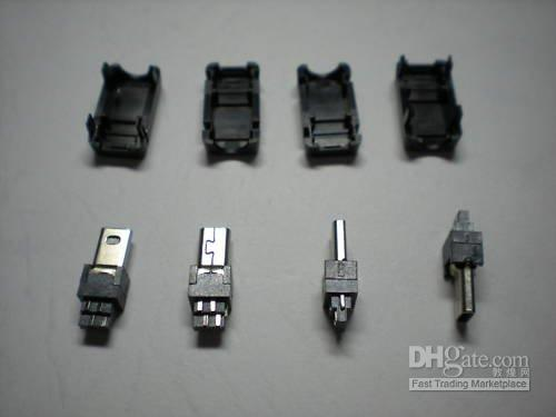 Wholesale Mini USB Pin Male Socket Connector Plastic per