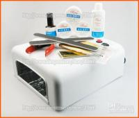 Wholesale W UV LIGHT NAIL ART CURING LAMP UV GEL STARTER KIT