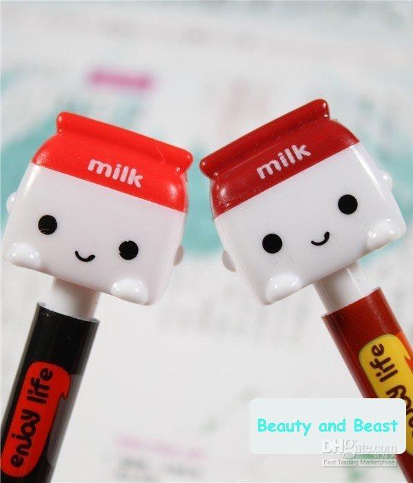 al por mayor nueva caja de diseño de la pluma-nuevo diseño de 2014 leche caja envío gratis SIMS bolígrafo regalo Corea papelería creativa