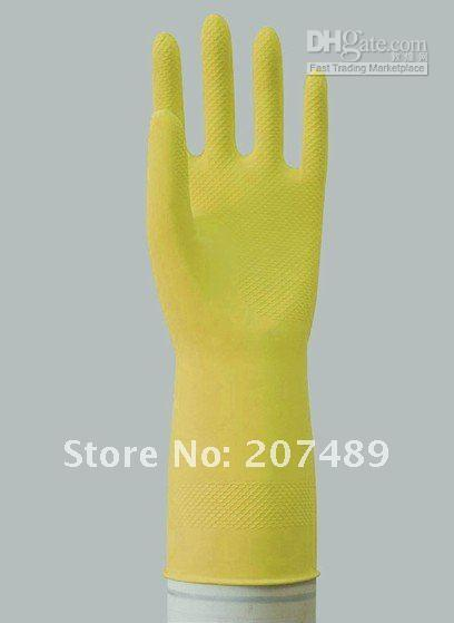 Wholesale retail double waterproof rubber gloves winter gloves washing gloves latex gl