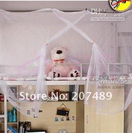 2pcs folding nylon mesh stent Students mosquito net classic white encrypted dormitory nets