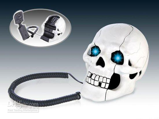 Wholesale Skull Designer Novelty Home Phone Telephone Halloween