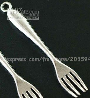 Wholesale Fashion Tibetan Silver Crafted Fork Charms Pendant