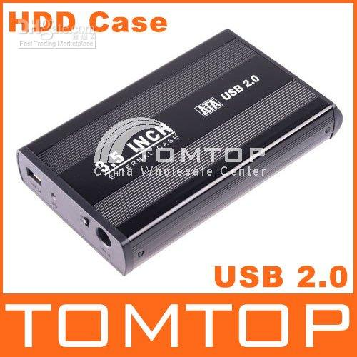 Wholesale 1pcs inch USB HDD SATA Hard Disk Drive Enclosure Case C838B