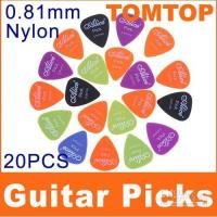 Nylon Mixed Style Nylon Hot sale Alice 20x 0.81mm Smooth Nylon Guitar Picks Plectrums,50sets lot(1000pcs),free shipping I27