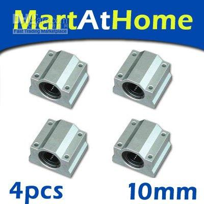 Wholesale 4pcs SCS10UU mm Linear Ball Bearing Box Unit Slider XYZ table CNC SM007