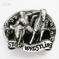 Wholesale Belt Buckle Black Western Rodeo Steer Wrestling
