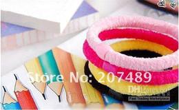 450pcs lot New Colorful Rope Elastic Girl's Hair Ties Bands Headband hair Strap Hair Band