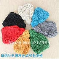Wholesale Women s Knitting Wool hat Candy color Beanie Cap Autumn and Winter Hat multi color to select
