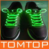 Wholesale Green LED Light Up Shoes shoelaces Luminous shoestring Flash Glow Stick sets
