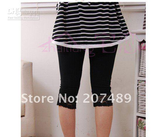 Wholesale retail Summer Women Leggings Tights lace short Pants Skinny Style Leggings S